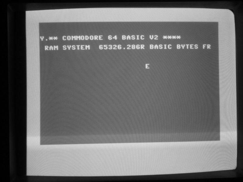 commodore start screen with some visible errors